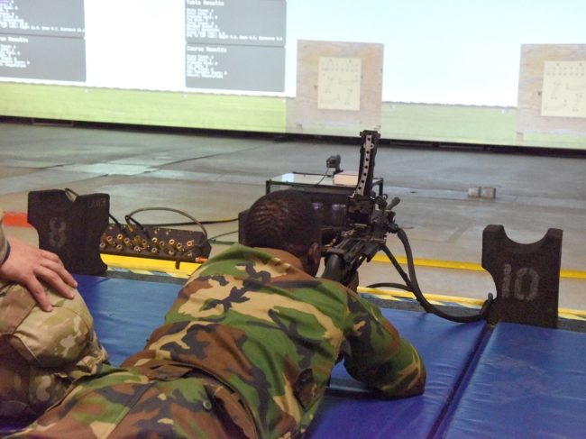 Michigan National Guard Trains Liberian Soldiers on Small Arms Sim