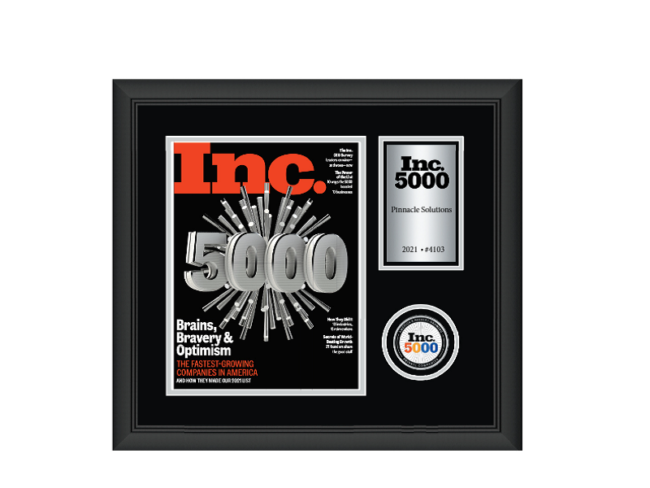 Pinnacle Selected for Eighth Time on the Inc. 5000 List