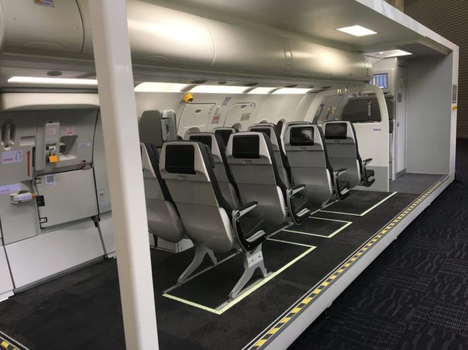 Spatial Manufactures Airbus Cabin Service Trainer for S7 Airlines