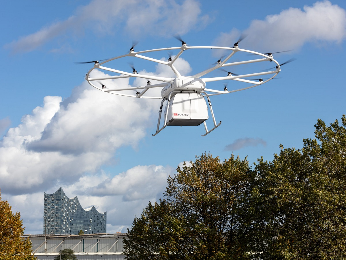 Volodrone takes off during logistics integration demonstration with db schenker at its world congress scaled