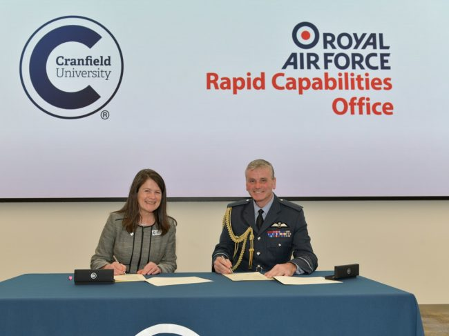 Cranfield & RAF Work Together on New Research and Education Initiatives