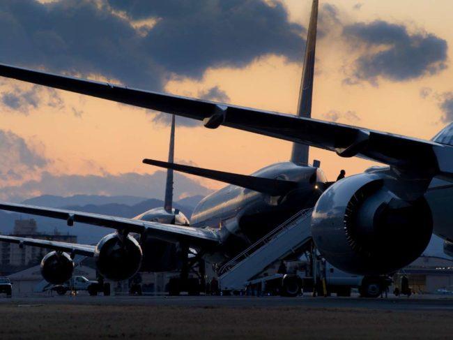 aircraft dusk