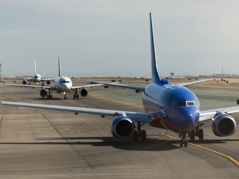 aircraft lined up